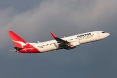 Qantas Boeing 737-838 VH-VXE departing Melbourne International Airport. Melbourne, Australia - September 25, 2011: Qantas Boeing 737-838 VH-VXE departing Stock Photo