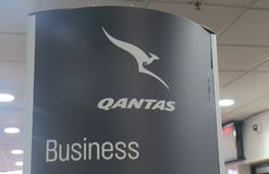 Qantas business class check in Stock Photography