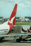 Qantas fleet grounded worldwide, Australia Royalty Free Stock Images