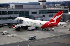 Qantas Fluglinien Lizenzfreie Stockfotografie