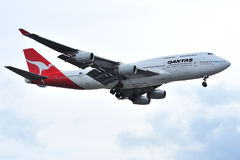 Qantas Jumbo 747 Commercial Airliner Stock Photography
