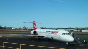 Qantas Link. A Qantas Link Boeing 717 at Brisbane International Airport Stock Photos