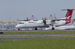 QANTAS Link Plane on Runway Royalty Free Stock Image