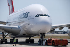 Qantas A380 Perth Airport Stock Photography
