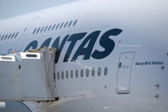 Qantas A380 Perth Airport Stock Photos