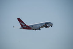 Qantas A380 Perth Airport Royalty Free Stock Image