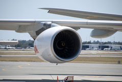 Qantas A380 Perth flygplats Royaltyfria Foton