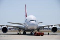 Qantas A380 Perth flygplats Royaltyfria Bilder