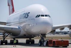Qantas A380 Perth lotnisko Fotografia Stock