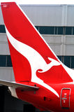 Qantas plane Royalty Free Stock Photography