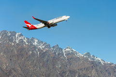 Qantas plane Royalty Free Stock Photography
