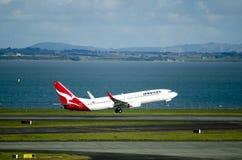 Qantas plane takeoff Stock Photography
