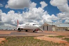 Qantas revient au lieu de naissance Images libres de droits