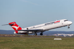 QantasLink Qantas Boeing 717 regional jet airliner taking off from Sydney Airport. Royalty Free Stock Photos
