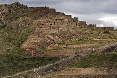 Qantus Raqay - vallée sacrée des Inca - le Pérou Photos libres de droits