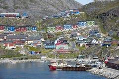 Qaqortoq, Groenland royalty-vrije stock afbeeldingen