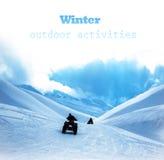 Qard rower w śnieżnych górach Obraz Stock