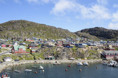 Qarqartoq,格陵兰 免版税库存照片