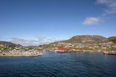 Qarqartoq Grönland Arkivbild