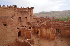 Qasba ` s Tobius в горах атласа в Марокко Стоковое Изображение