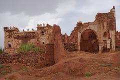 Qasba Tobius ` s στα βουνά ατλάντων στο Μαρόκο μετά από τη βροχή Στοκ Εικόνα