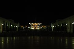 Qasr Al Alam Royal Palace by Night, Muscat Royalty Free Stock Photos