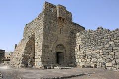 Qasr al-Azraq is één van de Woestijnkastelen in het oosten van Jordanië stock foto's