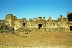 Qasr al-Azraq - medeltida fort, Azraq, Jordanien royaltyfri foto