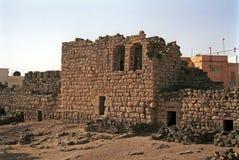 Qasr al-Azraq - medeltida fort, Azraq, Jordanien arkivfoton