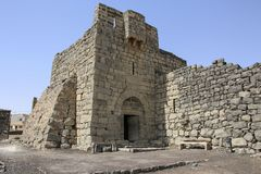Qasr al-Azraq is one of the Desert castles in the east of Jordan.  stock photos
