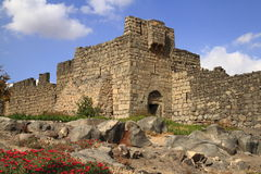 Qasr al-Azraq. Is one of the Desert castles in the east of today's Jordan Royalty Free Stock Images