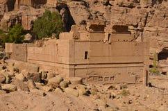 Qasr al-Bint, Petra Royalty-vrije Stock Fotografie