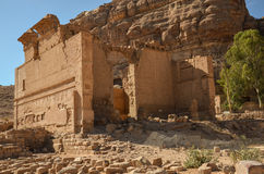 Qasr al-Bint, Petra Stock Photography