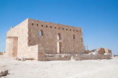 Qasr Al Hallabat desert castle Royalty Free Stock Photos