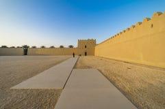 Qasr Al Muwaiji, slottdomstol, Al Ain, Januari 2018 arkivbild
