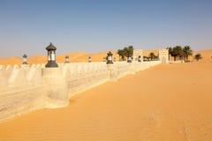 Qasr Al Sarab沙漠手段在阿布扎比 库存照片