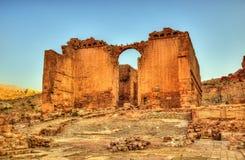 Qasr AlBint,在Petra的一个寺庙 免版税库存图片
