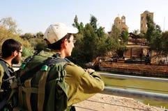Qasr AlYahud -耶稣洗礼站点-河约旦以色列 库存图片