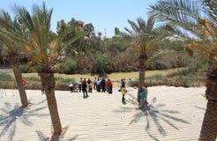 Qasr el Yahud, Jordan River, dop- plats Arkivfoton