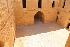 Qasr Kharana (Kharanah或Harrana),沙漠城堡在东约旦(100 km阿曼) 库存照片