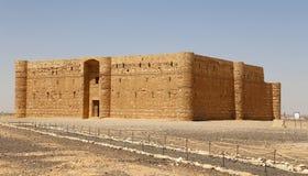 Qasr Kharana (Kharanah或Harrana),沙漠城堡在东约旦(100 km阿曼) 免版税库存图片