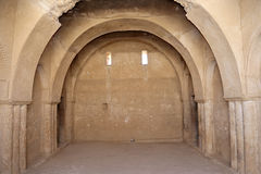 Qasr Kharana (Kharanah ή Harrana), το κάστρο ερήμων στην ανατολική Ιορδανία (100 χλμ του Αμμάν) Στοκ Εικόνα