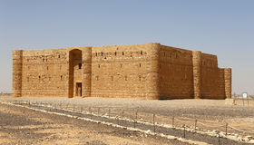 Qasr Kharana (Kharanah or Harrana), the desert castle in eastern Jordan (100 km of Amman). Royalty Free Stock Image