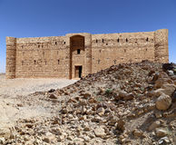 Qasr Kharana (Kharanah or Harrana), the desert castle in eastern Jordan (100 km of Amman) Royalty Free Stock Photo