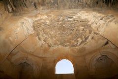 Qasr Kharana (Kharanah of Harrana), het woestijnkasteel in oostelijk Jordanië (100 km van Amman) Royalty-vrije Stock Afbeelding