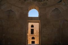 Qasr Kharana (Kharanah of Harrana), het woestijnkasteel in oostelijk Jordanië (100 km van Amman) Royalty-vrije Stock Afbeeldingen