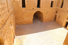Qasr Kharana (Kharanah of Harrana), het woestijnkasteel in oostelijk Jordanië (100 km van Amman) Stock Foto's