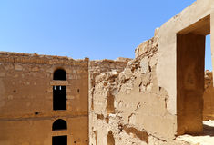 Qasr Kharana (Kharanah of Harrana), het woestijnkasteel in oostelijk Jordanië (100 km van Amman) Stock Foto