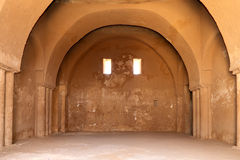 Qasr Kharana (Kharanah of Harrana), het woestijnkasteel in oostelijk Jordanië (100 km van Amman) Royalty-vrije Stock Fotografie