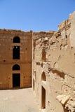 Qasr Kharana (Kharanah of Harrana), het woestijnkasteel in oostelijk Jordanië (100 km van Amman) Royalty-vrije Stock Foto's